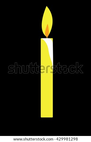 candle vector - stock vector