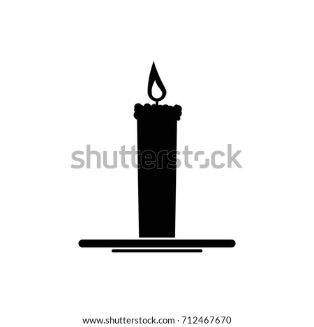 Burning Candle Holder Fire Flame Isolated Stock Vector ...
