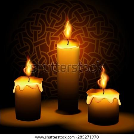 Lit Candles Stock Vectors, Images & Vector Art | Shutterstock
