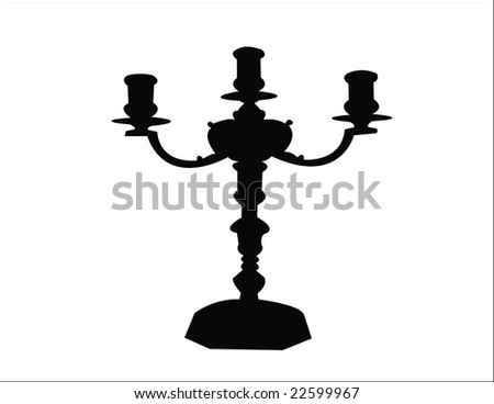 candlestick - stock vector