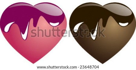 candy and chocolate heart - stock vector