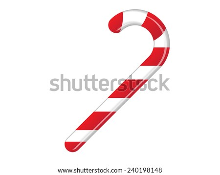 Candy Cane - stock vector