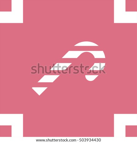 Candy cane vector icon. Sugar lolly pop symbol. Sweet lolly pop sign.