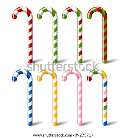 Candy canes - stock vector