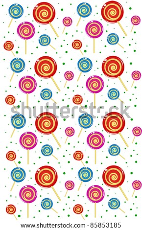 candy christmas seamless vector - stock vector