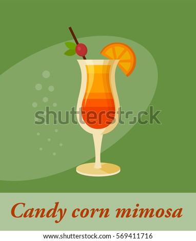 Candy Corn Mimosa tail Menu Item Stock-Vektorgrafik 569411716 ... on