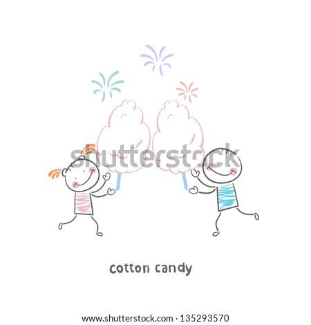 candy-floss - stock vector