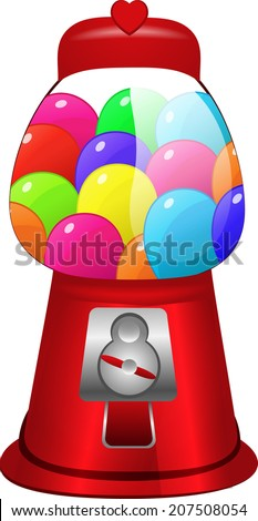 Candy gum machine - stock vector