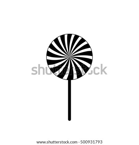 candy icon lollipop flat design template stock vector 500931793