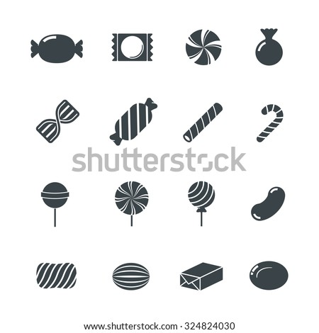 Candy Icons. - stock vector