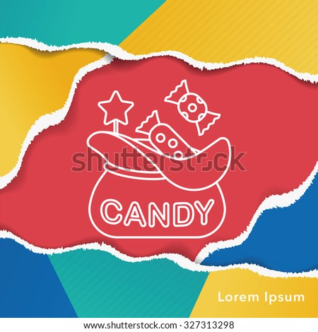 candy line icon