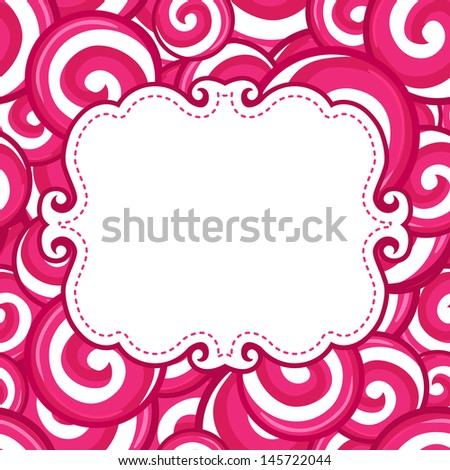 Candy lollipops  background  - stock vector