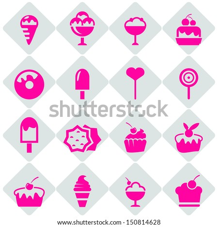 candy shop icons - stock vector