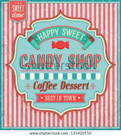 Candy shop. Vector illustration. - stock vector