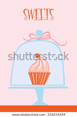 Candy shop with sweets - stock vector