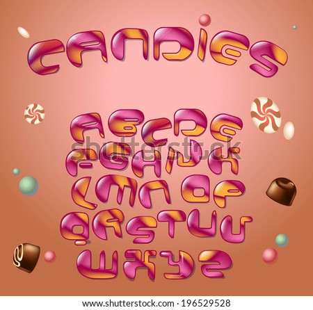 candy style font. Vector illustration - stock vector