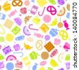 candy vector icons set. Colorful - stock vector