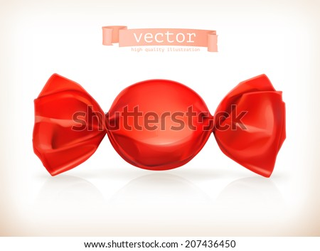 Candy, vector illustration - stock vector