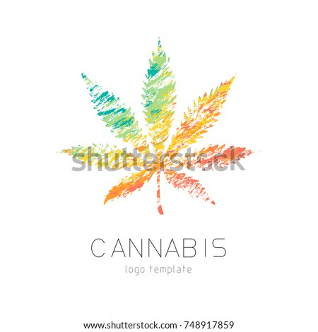 Cannabis Creative Logo Marijuana Colourful Symbol Stock Photo Photo