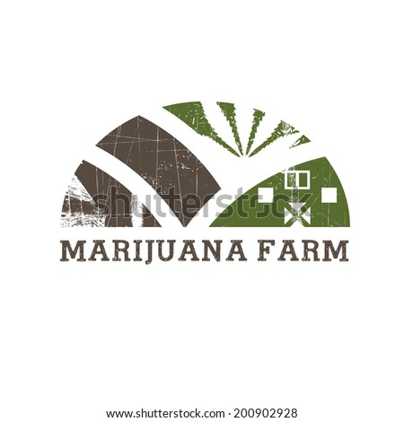 Cannabis farm icon - stock vector