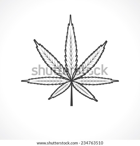 cannabis leaf - stock vector