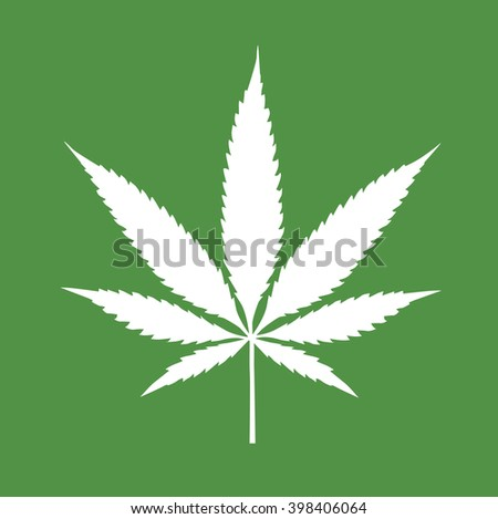 Cannabis leaf. Vector illustration and icon.