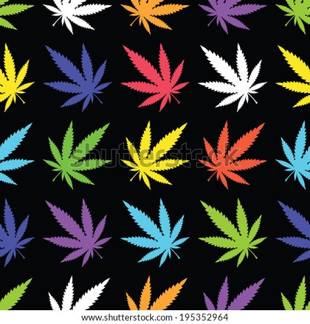 Cannabis leafs - seamless pattern