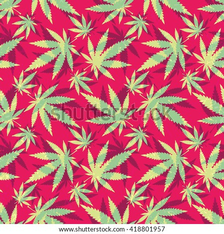 Cannabis leaves - seamless pattern