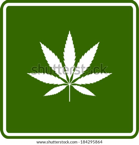 cannabis or marijuana leaf sign - stock vector