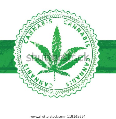 cannabis seal - stock vector