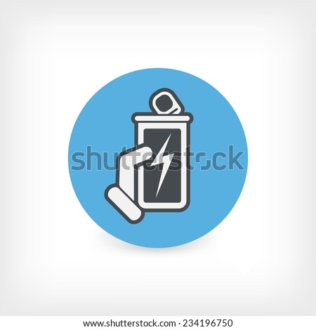 Canned energy drink - stock vector