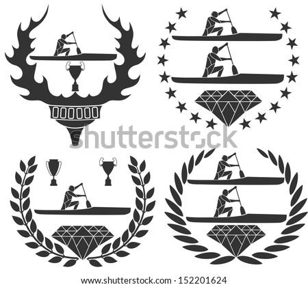 Canoe - stock vector