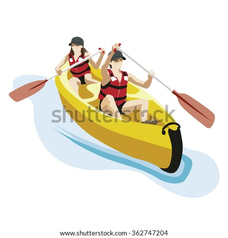 canoe kayak with two persons