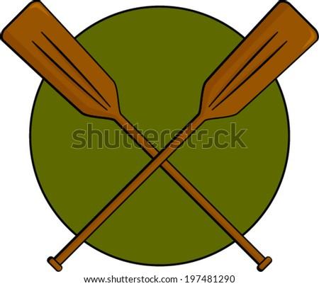 Crossed Canoe Paddles Symbol Stock Vector 173520248 - Shutterstock
