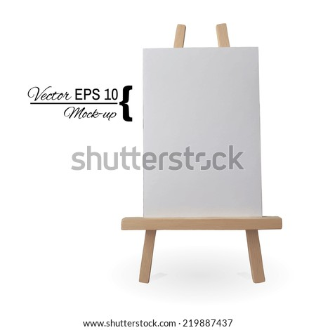 Canvas on an easel | Vector moch up