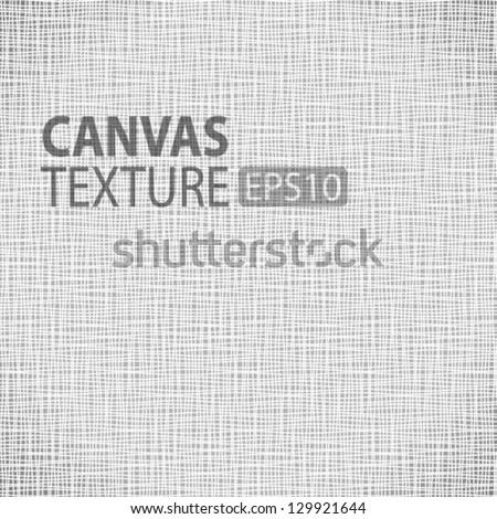 Canvas texture, vector illustration - stock vector