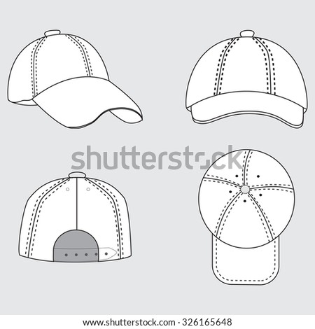 Cap vector - stock vector