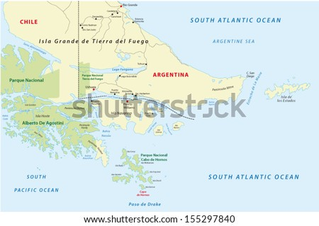 Cape Horn Stock Images RoyaltyFree Images Vectors Shutterstock - Argentina cape horn map