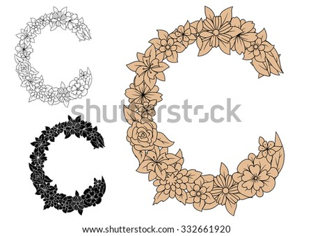 Floral Letters Stock Photos Royalty Free Images Amp Vectors
