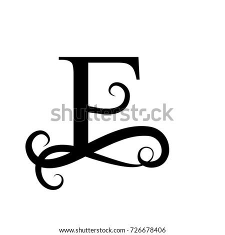 Capital Letter For Monogram Or Logo Beautiful Black Vector E Design
