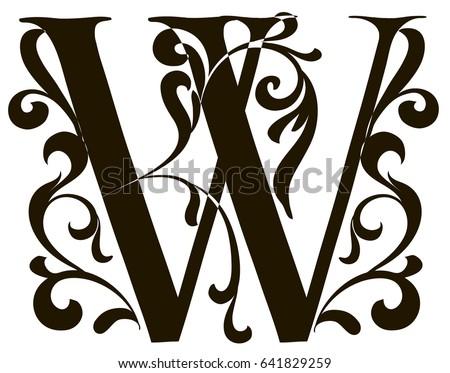 Capital Letter W Large Illuminated