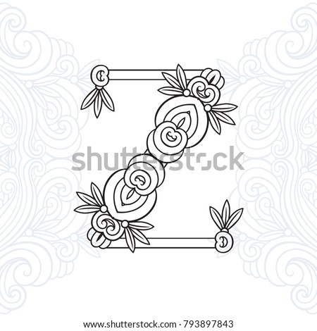 Capital Letter Z Authors Font Thin Graphics Pattern Vector A Beautiful
