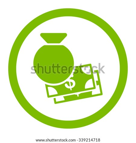 Capital vector icon. Style is flat rounded symbol, eco green color, rounded angles, white background. - stock vector