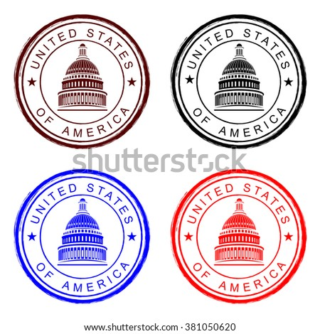 Capitol building - stock vector