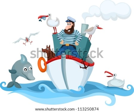 captain - stock vector