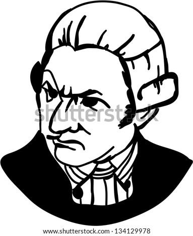 Captain James Cook - British explorer, navigator, cartographer, and captain in the Royal Navy. - stock vector