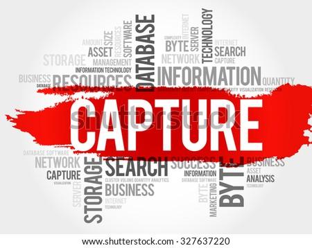 Capture word cloud, business concept - stock vector