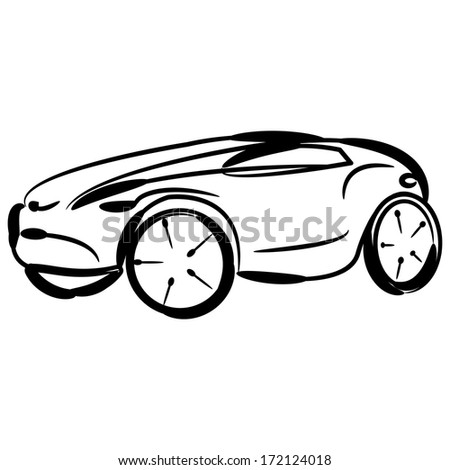 Kabriolet Clipart besides Two Racecars With Checkered Paths 1067283 furthermore Police Car Isolated Illustration Blackwhite Automobile 667851523 additionally Flat bed truck furthermore Nude cowgirl on horse. on sports car driving fast