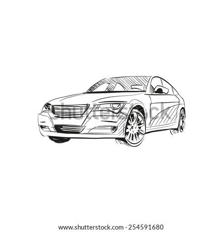 Car abstract vector design concept  - stock vector