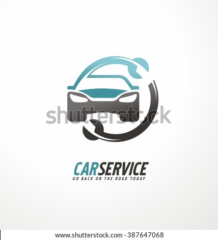 Car abstract vector logo design concept. Car service. Car symbol. Car icon. Garage logo. Car repair. - stock vector